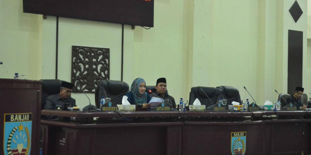 Rapat Paripurna DPRD Kabupaten Banjar, 14 Nopember 2017