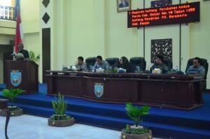 Rapat Paripurna DPRD Kabupaten Banjar. Kamis 14 Desember 2017