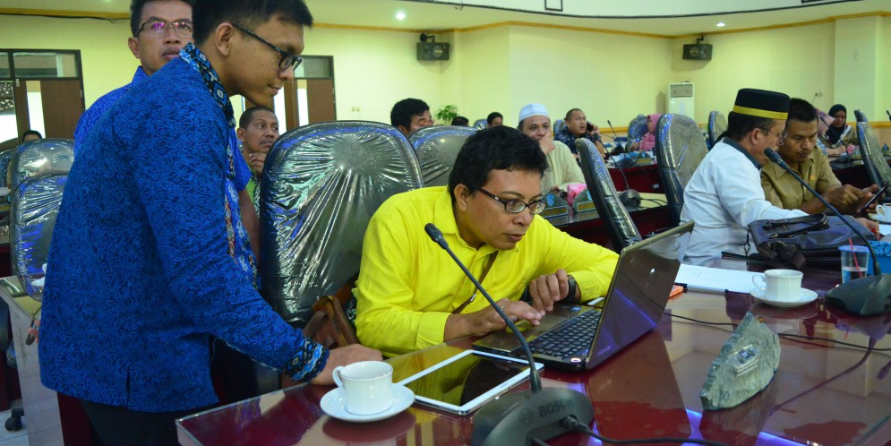 Sosialisasi e-filing LHKPN Bagi Pimpinan dan Anggota DPRD Kabupaten Banjar, 10 April 2018